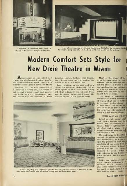 Dixie Theater Article of 1951