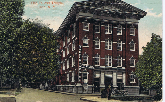 Temple Theatre, Odd Fellows Temple, Morgan St, Ilion, NY - Post Marked 1913