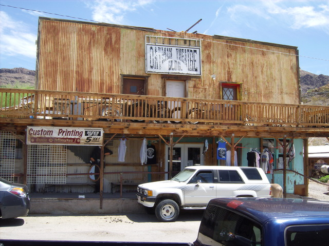 Oatman Theatre-Oatman AZ. August 4, 2013