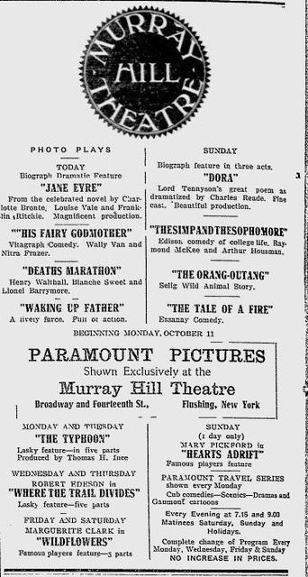 The Murray Hill Theatre in 1915.