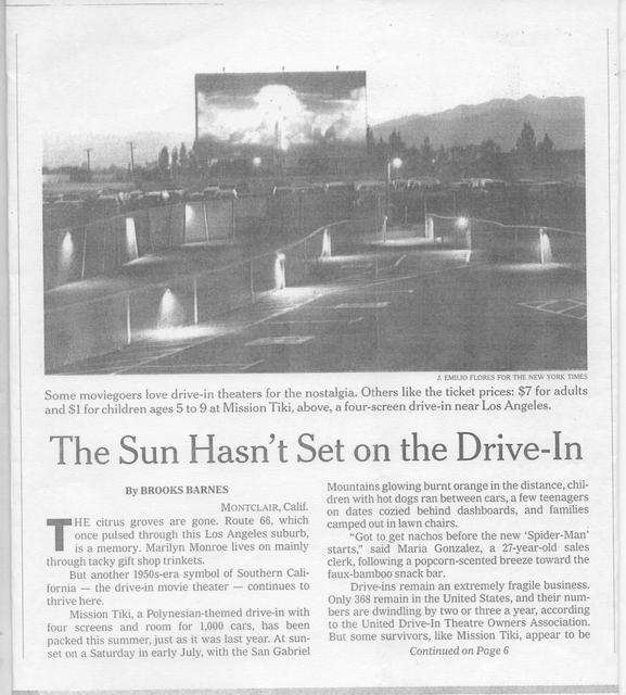 """""""The Sun Hasn't Set on the Drive-In"""""""