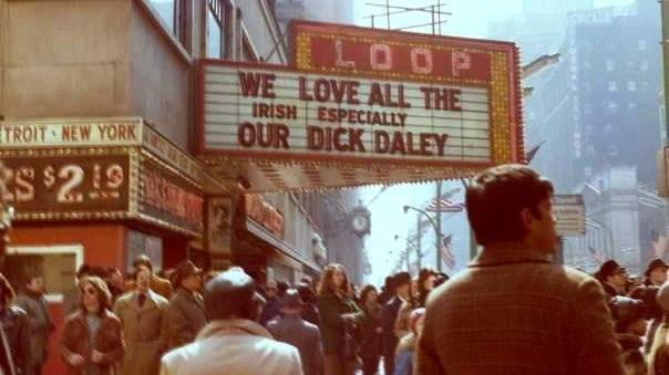 Mid `70's shot of the Loop marquee, source unknown.
