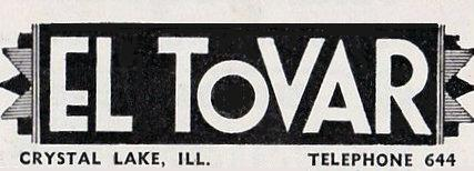 EL TOVAR (LAKE, RAUE) Theatre; Crystal Lake, Illinois.