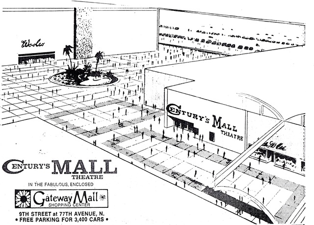Century's Mall Theatre (Gateway Cinema I & II) St. Petersburg, FL