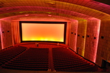 <p>Screen 1 viewed from projection box, July 2013.</p>