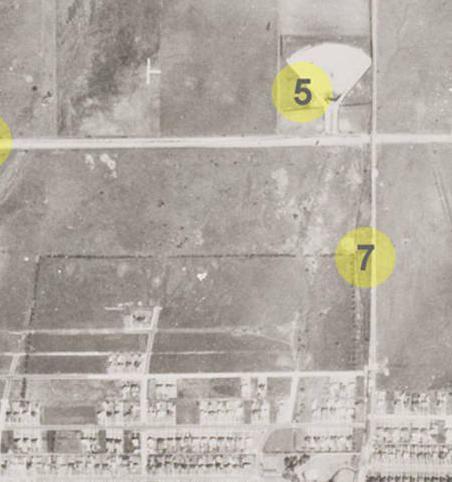 Aerial View of NW Drive-In 1945