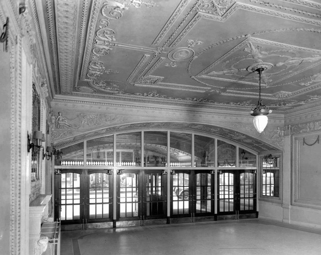 Madison Theater: Peoria, IL. Outer Lobby Hall - 1921