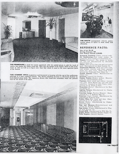 Trylon Theater in 1941 Theatre Catalog, Promenade & Standee area