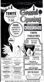 Crossroads Theatre, St. Petersburg, FL, Grand Reopening Ad