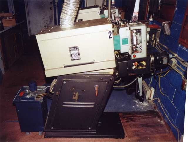 Miles DI projection booth in 2001