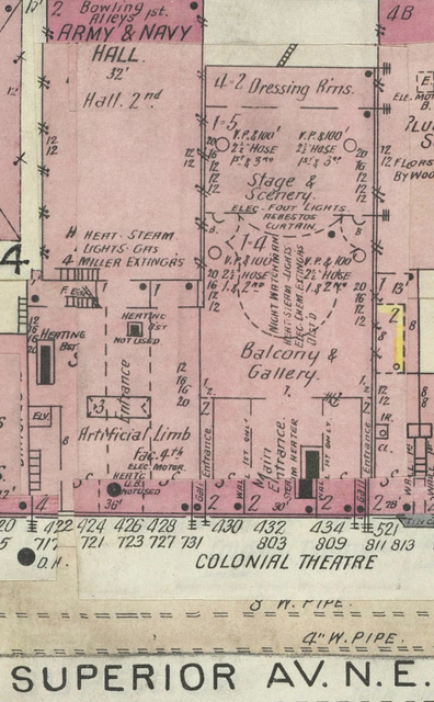 Colonial Theatre Map