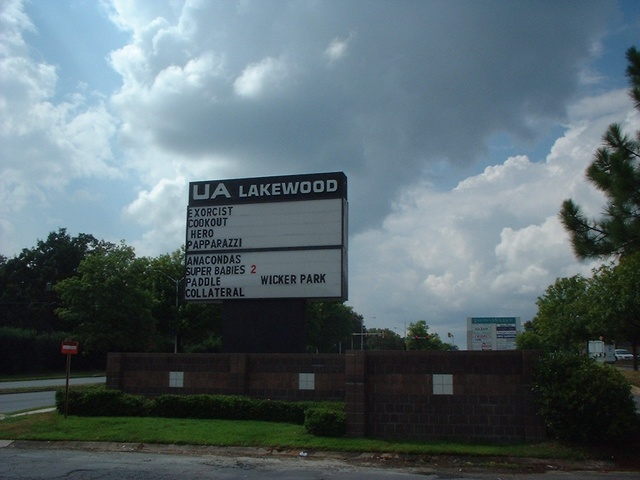 The signage at the Lakewood