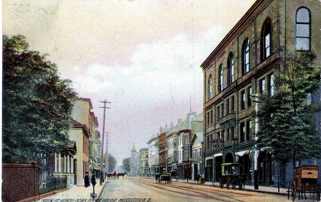 Main St looking North, the Sorg Opera House is on the right.