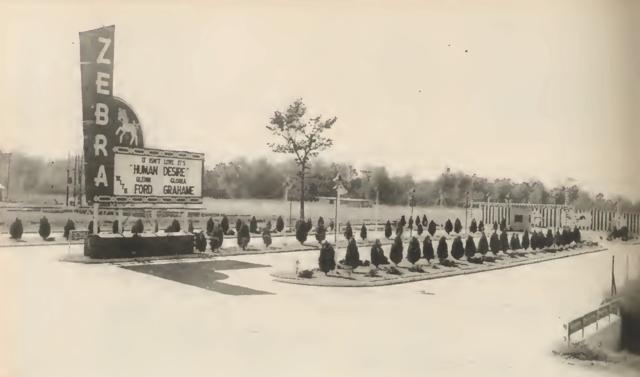 Zebra Drive-In in 1954