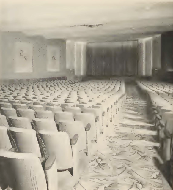 Interior of the Northwood in 1955