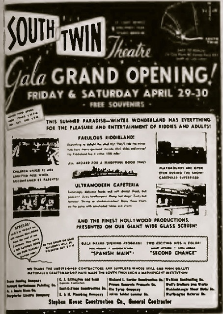 Grand Opening Ad for Twin