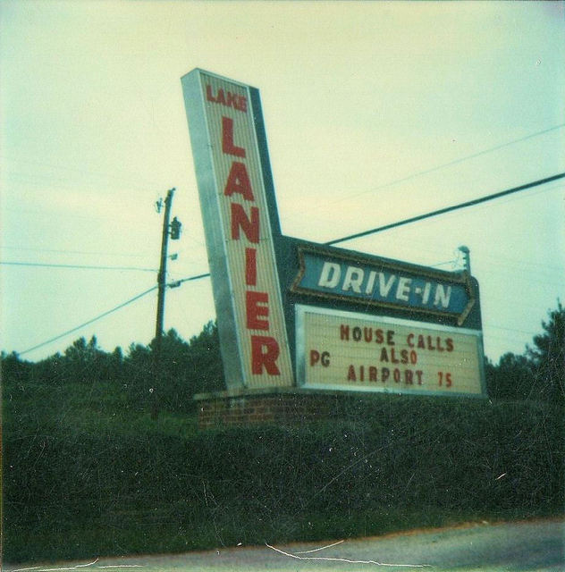 Lake Lanier Drive-In's Marquee From 1978...