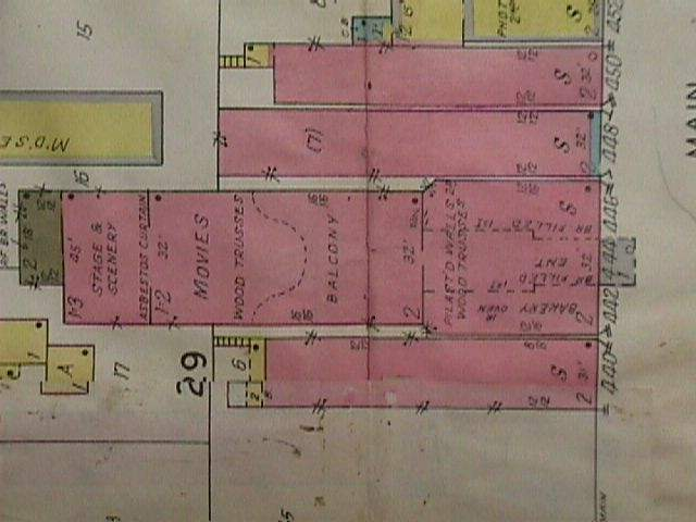 Fox Theater on an Insurance Map of Stevens Point Wisconsin