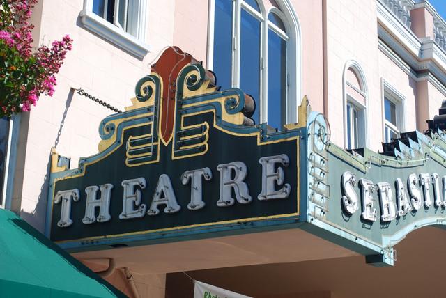 Sebastiani Theatre Marquee Side