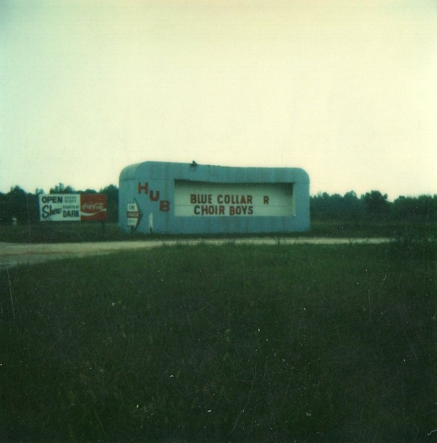 The Marquee At The Hub Drive-In From The Late 70's...