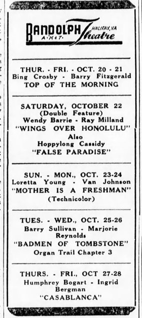 Advertisement from Halifax Gazette