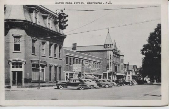 Sherburne Theater (circa 1940s), view of N. Main Street