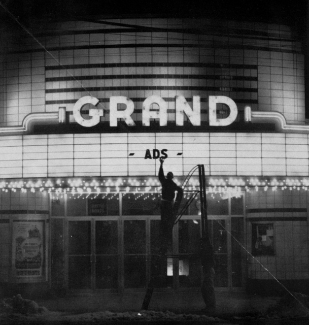 The Grand Theatre Marquee in 1962