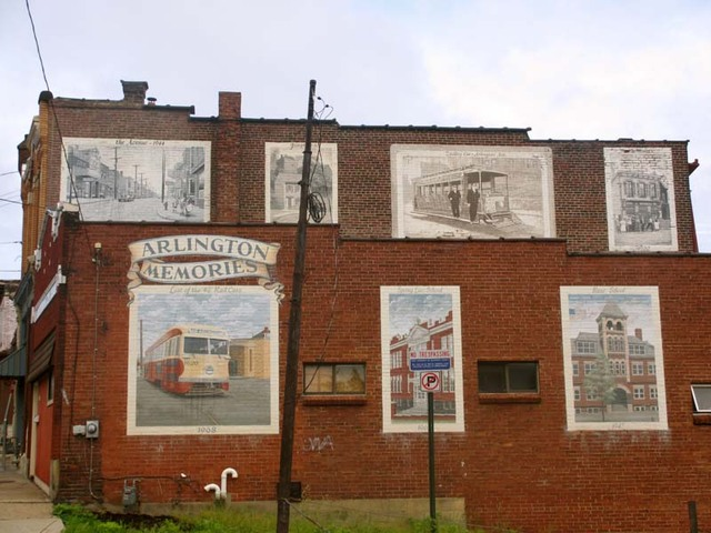 Mural titled Arlington Memories