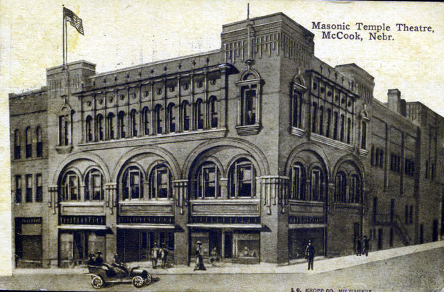 MASONIC TEMPLE (FOX, TEMPLE, BISON) Theatre; McCook, Nebraska.