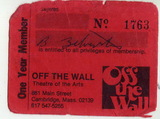 Off The Wall membership card