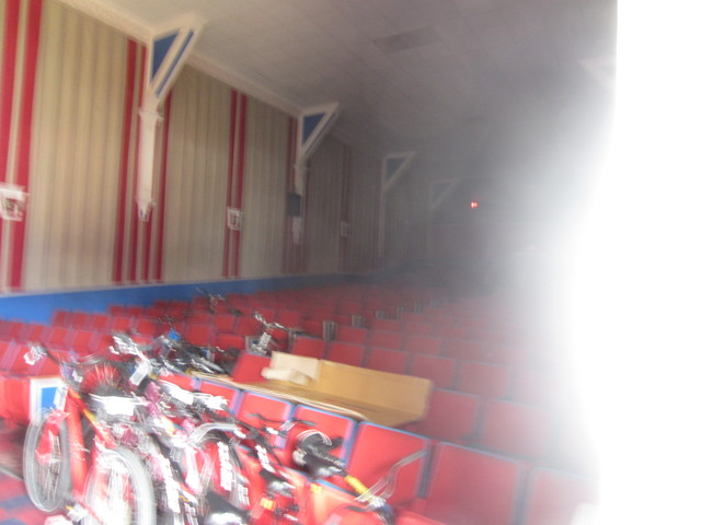Inside the auditorium