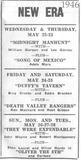New Era Theatre Ad 1946