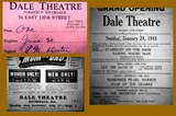 Dale Theatre Ticket-Ads 1940's