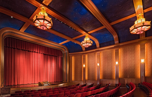 Here's a side view of inside this stunning theater.
