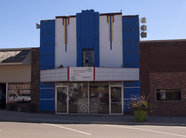 Merwin's Video & Theater (aka Rook Theater), Cheyenne, OK - 2013