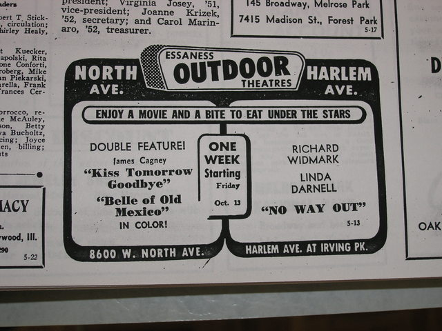 1950 ad from the Proviso Pageant high school newspaper.