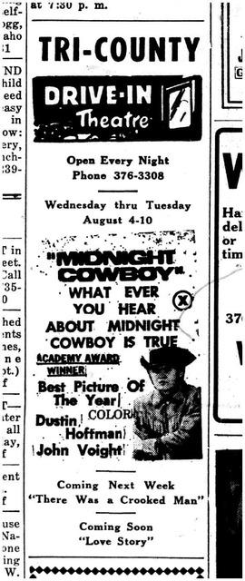 Advertisement 5 August 1971