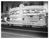 """Long Long Trailer"" promotion at the Granada, 1953. Photo found on the AmeriCar The Beautiful Facebook page. Original source unknown."