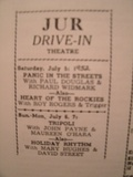 movies showing at the JUR summer 1952