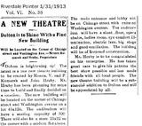 Dolton Theatre Origins 1913