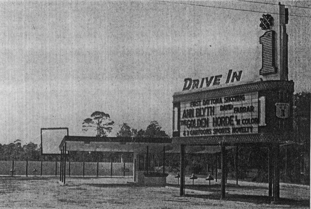 The Marquee At The #1 Drive-In From The 50's...