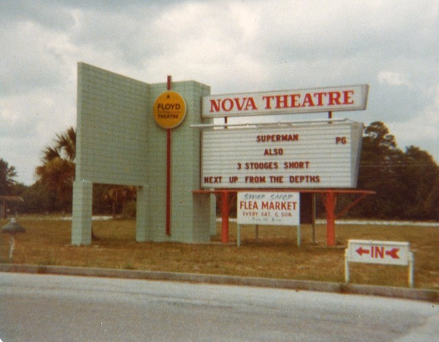 The Marquee At The Nova Drive-In From 1979...