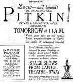 <p>New York Times ad for November 22nd, 1929</p>