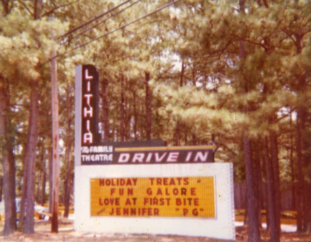 The Marquee At The Lithia Drive-In From 1979...