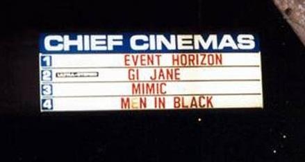 Chief Cinema 4 Movie Sign