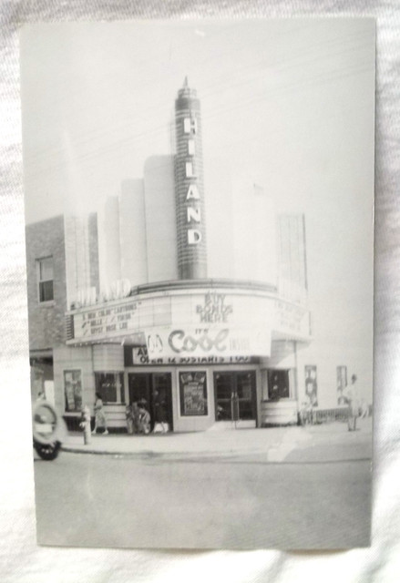 Hiland Theater postcard circa 1944.