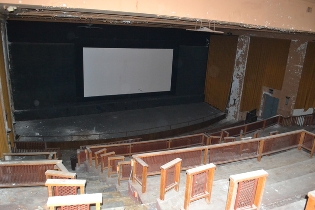 The top screen of the Regent Theater
