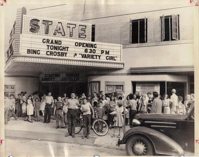 "Grand Opening of the State Theater, July 15th 1948. Photo courtesy of the ""You know you're from Freeport if...."" Facebook page."