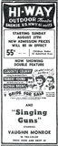 HI-WAY OUTDOOR Theatre; Wadsworth, Illinois.