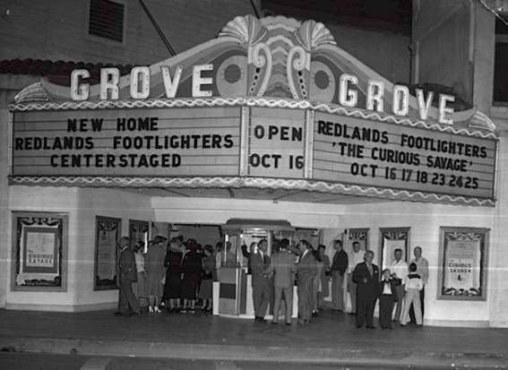 Grove Theatre, year unknown. Photo via the Fiftiesville Facebook page.